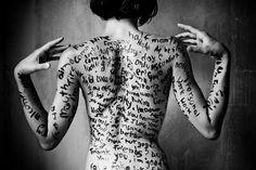 Script on Skin, I find beautiful