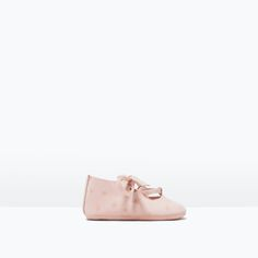 Image 1 of LEATHER MARY JANES WITH BOW from Zara