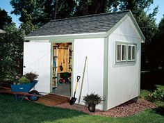 Build Your Own Garden Shed From Popular Mechanics Plans - A spacious storage shed that anyone can build. A basic 9 x 13-ft. shed built with decent materials and conventional framing methods. Material costs for our project came to around $2400. (I would use more salvage, myself.)