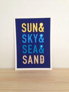 Fun In The Sun  Art Print A4 by Haasbroek on Etsy, $35.00