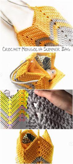 Great And Easy Crochet Shopping Bag Pattern For Beginners Crochet Bag Tutorials, Crochet Projects, Crochet Handbags, Crochet Purses, Easy Crochet, Knit Crochet, Knitting Patterns, Crochet Patterns, Crochet Market Bag