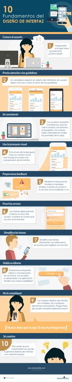 10 fundamentos del diseño de interfaces. Infografía en español.. #CommunityManager