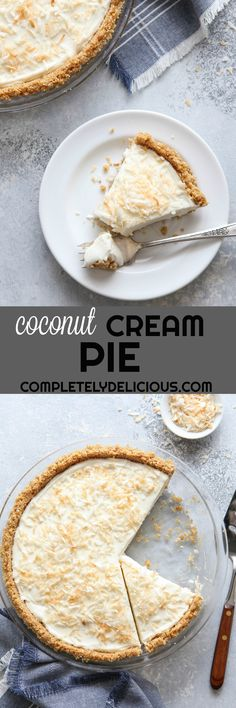 This is the dreamiest (and easiest!) no-bake coconut cream pie!