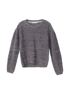 Textured Crop Sweater