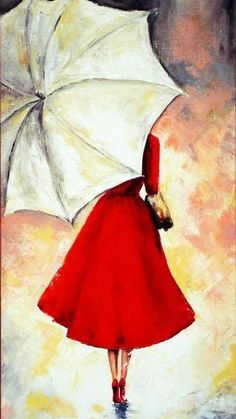 Easy-Acrylic-Painting-Ideas-on-Canvas Umbrella Art, White Umbrella, Drawing Umbrella, Umbrella Painting, Acrylic Paint On Canvas, Simple Acrylic Paintings, Art On Canvas, Drawings For Girls, Couple Drawings
