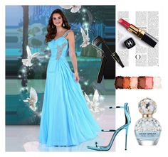 One Shoulder Rhinestone Prom Dress by johnnymuller on Polyvore featuring NYX, Lancôme, Marc Jacobs and Chanel