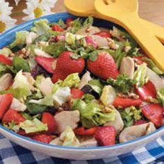 Recipe: Strawberry Green Salad with Chicken