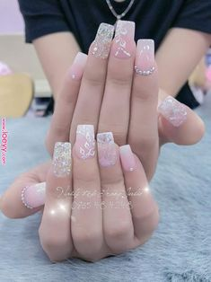 Pin by Channie Trang on Nails in 2019 - Nail Art Perfect Nails, Gorgeous Nails, Love Nails, Pretty Nails, My Nails, French Manicure Acrylic Nails, Best Acrylic Nails, Nail Manicure, French Nails