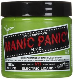Manic Panic Cream Formula Semi, Permanent Hair Color, Electric Lizzard, 4 oz >>> Want additional info? Click on the image.