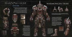 """Orc Tribes in """"Middle-earth: Shadow of War"""" - Cosplay guide showing the aesthetics of each tribe.(X-post /r/ShadowOfMordor)"""
