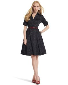 http://www.whitehouseblackmarket.com/store/browse/product.jsp?maxRec=65&pageId=1&productId=570039404&viewAll=&prd=Polka+Dot+Shirt+Dress&subCatId=&color=&fromSearch=&inSeam=&posId=10&catId=cat210002&cat=Dresses++Skirts&onSale=&colorFamily=&maxPg=5&size=    I think I need to go back to working in the office just to have an excuse to wear a dress every day! ;)