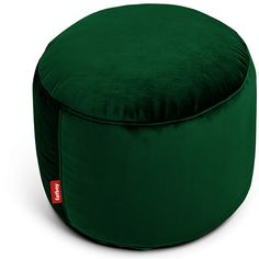 The Fatboy Point is a comfortable round footstool that fits anywhere, whether it's in the living room or the bedroom. The Point is perfect as a side Leather Ottoman, Pouf Ottoman, Nomadic Furniture, Pouf Design, Relaxed Dog, The Cool Republic, All Black Fashion