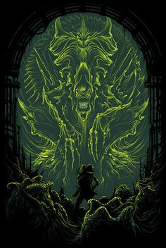 Dan Mumford – Both Sides Art Show at Gallery 1988 Arte Horror, Horror Art, Horror Movies, Horror Film, Comedy Movies, Art Alien, Alien Film, Alien Vs Predator, Predator Art