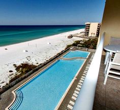 One of the nicest properties on Okaloosa Island in Fort Walton Beach Florida, Water's Edge offers panoramic Gulf views, plenty of white sand beach and private balconies facing the Gulf from every condo in the building. Book today with BeachGuide! 205-870-8700. Vacation Deals, Florida Vacation, Florida Beaches, Fort Walton Beach Florida, Destin Beach, Porch And Balcony, Thing 1, White Sand Beach, Balconies
