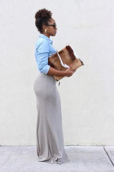 StyleLust Pages: Draped & Denim | Get the clutch here: http://lovecortnie.com/products/new-springbok-calf-hair-leather-clutch/
