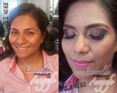 Maquillaje con aerógrafo ,El antes y el después