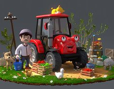 "Check out new work on my @Behance portfolio: ""3D character - Tractor"" http://on.be.net/1NnYBum"
