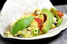 Egg and Avocado Breakfast Burrito