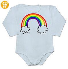 Rainbow Drawing Baby Long Sleeve Romper Bodysuit Extra Large - Baby bodys baby einteiler baby stampler (*Partner-Link)