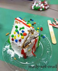 Milk carton gingerbread houses