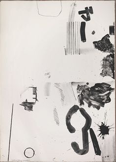 Robert Rauschenberg, White Stone in Black