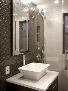 Custom Master Bathroom - Modern Glam Apartment Renovation