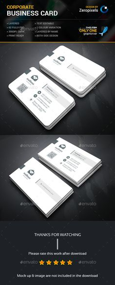 Simply Corporate Business Card — Photoshop PSD #package #all • Available here → https://graphicriver.net/item/simply-corporate-business-card/15245685?ref=pxcr