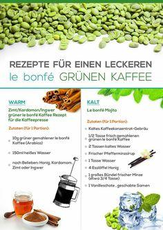 Rezepte für grünen Kaffee   #Rezept #grünerkaffee #Kaffee #grün #Zubereitung #health #gesund #abnehmen