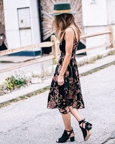 Velvet florals and wide brim hats for fall. Always a good idea @anthropologie #anthropologie #thewayidress #anthrostyle #ad http://liketk.it/2sOpm #liketkit @liketoknow.it