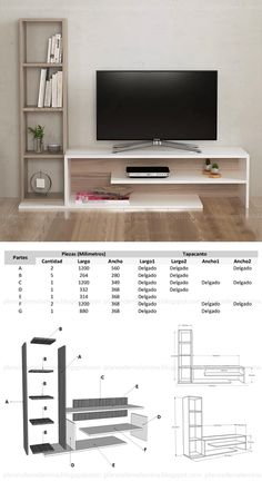Tv Unit Furniture Design, Wood Furniture Living Room, Tv Furniture, Tv Unit Decor, Tv Decor, Tv Stand Decor, Architecture 3d, Modern Tv Wall Units, Tv Cabinet Design