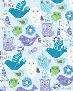 Owls & Birds Print by Jill McDonald Design