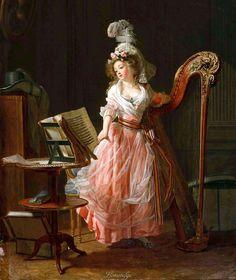 Michel_Garnier La jeune musicienne 1788