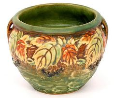 Roseville pottery, blackberry pattern, more beautiful seen three dimensionally.