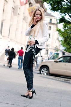 KAYTURE Jacket: Zara, Shirt: E-vil, Shoes: Morgan, Jeans: Omnitrade, Clutch: B-low the Belt.