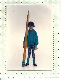 The pencil is mightier than the sword, that is, if you can pick it up. (submitted by Laura)
