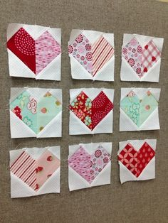 There are many different versions of hearts showing up all over Instagram. Seeing them got me in the mood to make a little heart quilt. ...