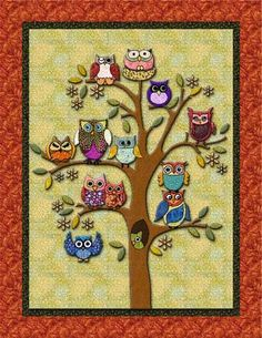 Life's a Hoot! Owl Quilt | Owl quilts, Owl and Patterns : owl quilt patterns - Adamdwight.com