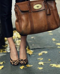 Leopard print and Mulberry Bayswater