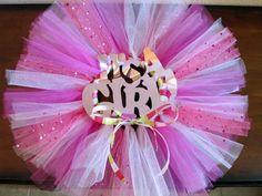 Baby Shower Decoration Tutu Wreath  Pink by SprinkledWithSparkle, $25.00