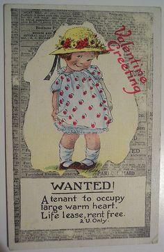 Vintage Valentine's Day Postcard, via Flickr.