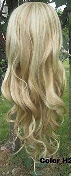 WJIA1005  new style curly vogue long blonde mix wigs for women hair wig #Unbranded #FullWig