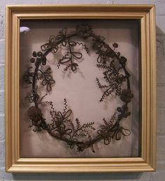 I know it is kind of creepy but I am fascinated by Victorian hair art.
