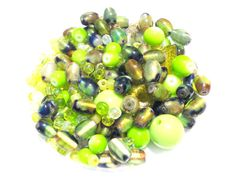 Green Bead Soup by VintageAlabama on Etsy, $3.25