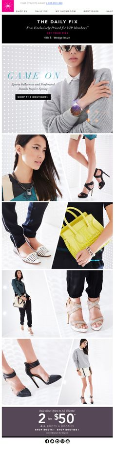 email blast from Shoedazzle
