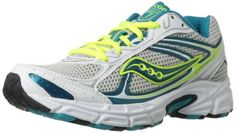 Saucony Womens Cohesion 7 Running ShoeWhiteTealSilver6 M US *** Be sure to check out this awesome product.