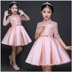 Baby Girl Kid Evening Party Dresses For Girl Wedding Princess Clothing 2017 New Solid Color Bow Moderator Dress Children Clothes Baby girl dresses for girls Wedding dresses for girls Wedding dress for girls Baby Girl Party Dresses, Little Girl Dresses, Girls Dresses, Flower Girl Dresses, Party Dresses For Kids, Party Clothes, Frocks For Girls, Kids Frocks, African Dresses For Kids