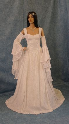 Cheap dress up wedding gowns, Buy Quality gown cotton directly from China gown dress Suppliers: Natural Satin Full Handfasting Medieval Movie Dress Lotr Renaissance Fantasy Gown Custom Made Renaissance Wedding Dresses, Costume Renaissance, Medieval Wedding, Wedding Gowns, Renaissance Theater, Celtic Wedding, Bridal Gowns, Medieval Dress, Medieval Clothing