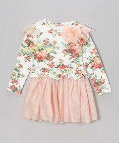Look at this #zulilyfind! Pink Floral Tutu Dress - Girls by Paulinie #zulilyfinds