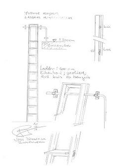 laddertjes.net: Ladders om vide te bereiken Attic Stairs Pull Down, Library Ladder, Ladders, Decoration, Scale, Floor Plans, Loft Beds, Playroom, Design Inspiration