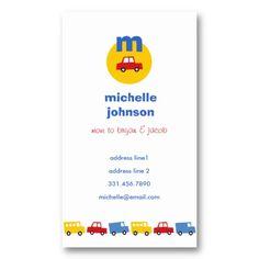 Boys & Toys Car Fun Cute Mom Dad Calling Card Business Card Template by fatfatin